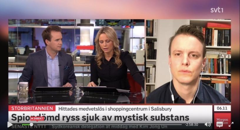 I morse medverkade jag i SVT:s Morgonstudion och pratade om det mystiska fallet