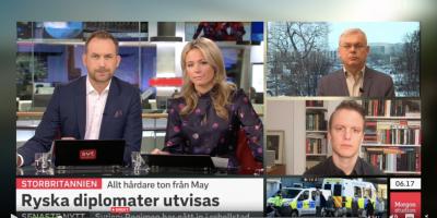 I mores var jag var med i SVT:s Morgonstudion för tredje dagen i rad för att prata om mordförsöket på den ryska dubbelagenten Sergei Skripal.